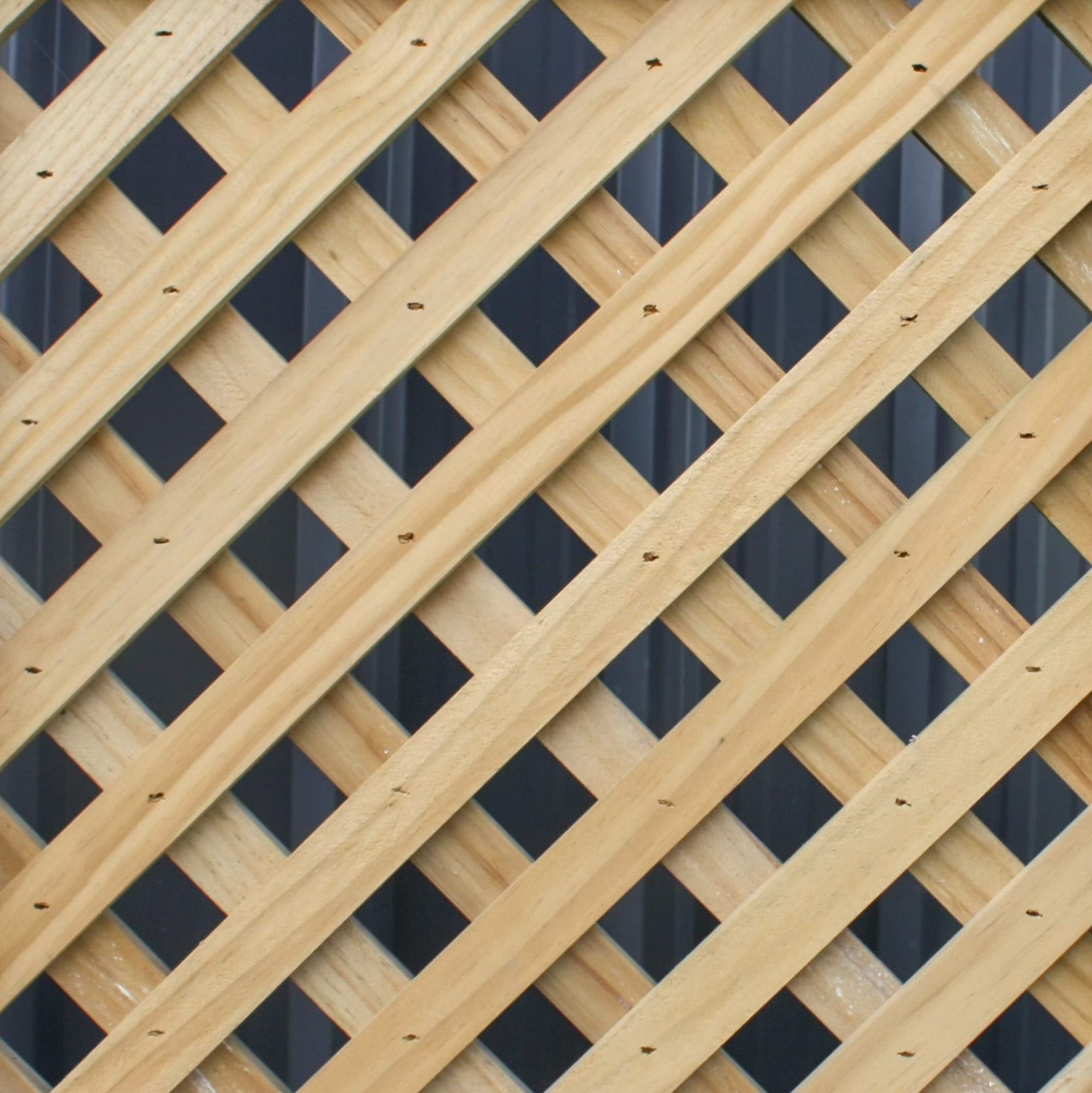 A picture of a 35mm diagonal fence design