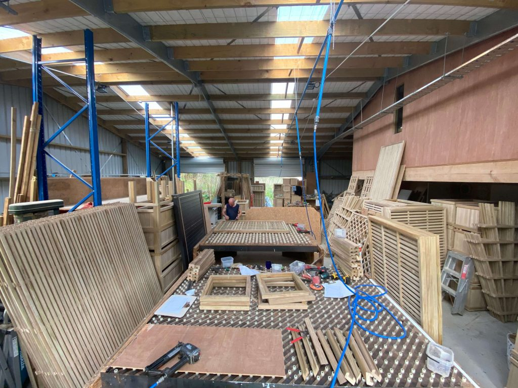 Trellis manufacturing facility where all products are assembled.