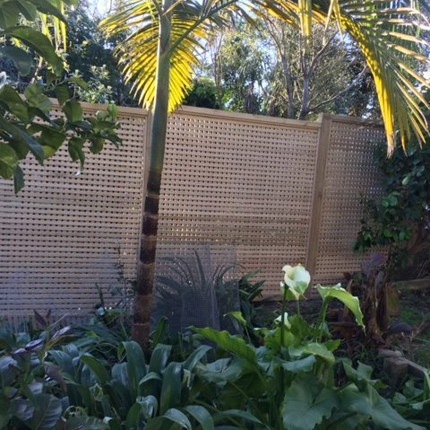 A picture of an installed 20mm square fence.